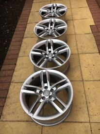 GENUINE AUDI A5 S-LINE ALLOY WHEELS 18""