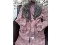 Winter Coat. Next size 12. Fully lined & with detachable collar