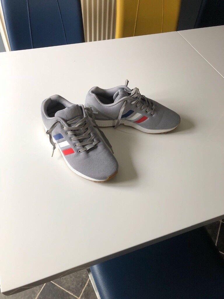 e8530b078cb17 Grey Adidas ZX Flux trainers size 10