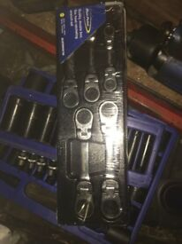 Blue Point Short Flexi Ratchet spanners supplied by snap on