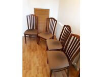 dinning room hard back chairs