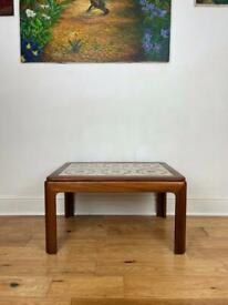 Stunning Mid Century Solid Teak Tiled Top Coffee Table by G Plan FREE LOCAL DELIVERY