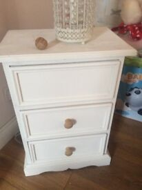 Solid Pine Annie Sloan Painted 3 drawer unit