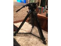 Manfrotto 504HD professional video head & Manfrotto 546GB two stage tripod legs