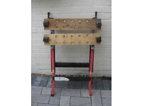Workmate type workbenches, identical, x 2