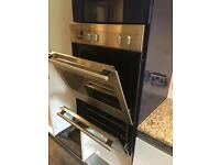 Integrated De Dietrich double fan oven & grill - Stainless