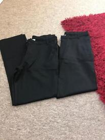 2x George school trousers age 13-14