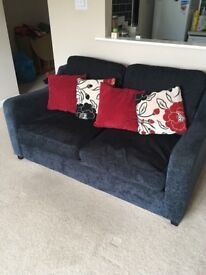 Navy blue dfs sofa with sofa bed