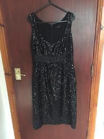 Black sequin per una dress size 8R