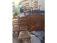 Free table and 6 chairs SOLD PENDING COLLECTION