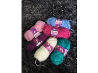 Various knitting threads