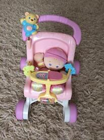Fisher Price stroller and doll