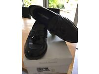 Russell & Bromley Keeble loafers in black hi-shine.