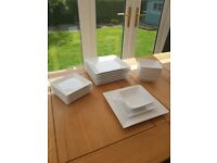 Contemporary White Dinner Set -24 piece