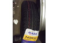 "145 x 10 145 80 x 10 TYRES FOR TRAILERS OR CLASSIC MINIS - TUBES & 10"" WHEELS ALSO AVAILABLE"