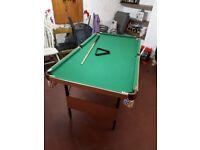 6ft foldaway pool table, reasonable condition