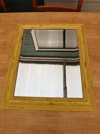 "Price Reduced ""Crackle glazed"" mirror."