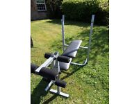 Collection of weights and bench. £80 ono. Buyer to collect.