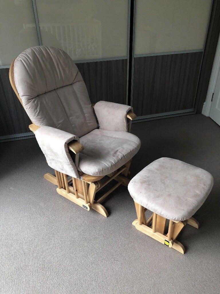 Incredible Tutti Bambini Deluxe Reclinable Glider Chair And Stool Natural In Winchester Hampshire Gumtree Creativecarmelina Interior Chair Design Creativecarmelinacom