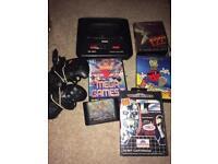 Sega Megadrive 2 console and games
