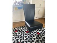 6 Lovely Leather Dining Chairs