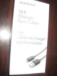 Insignia 10ft. Micro USB Cable / Charger for Sony PS4 Wireless Controller. Samsung Galaxy S6, S7 Smart Phone. 9057815781