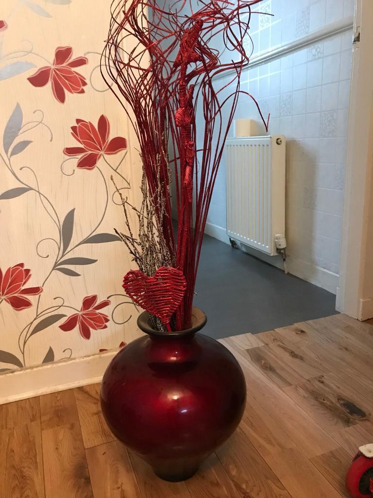 Big red vase