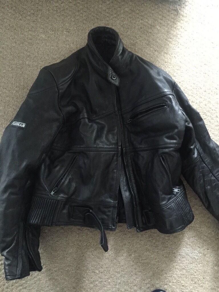 Leather jacket size 18 - Ladies Motorcycle Leather Jacket Size 18
