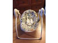 Kiddicare baby weavers musical swinging chair