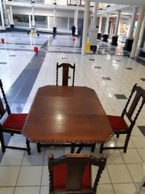 Drop leaf table plus 4 chairs
