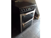 electric cooker 60 cm double oven induction hob,little used in spotless condition, cost around £900.