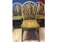 10 wooden Dining Chairs ex restaurant restoration project