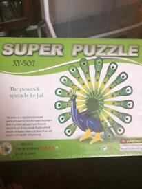 35 x peacock children's puzzle