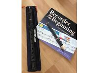 Aulos 303A Descant (Soprano) School Recorder Outfit Supplied in Blue Bag with book!
