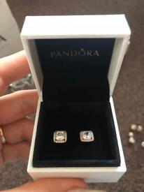 PANDORA rose timeless elegance earrings