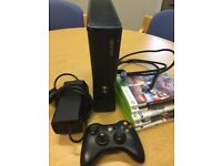 Xbox 360 S with handful of games, excellent condition, great for summer holiday boredom