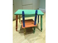 Childrens, Toddlers Crayon desk