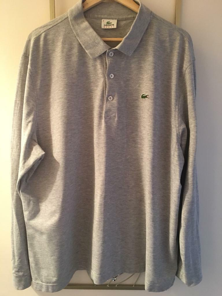 Men's Lacoste long sleeve polo shirts