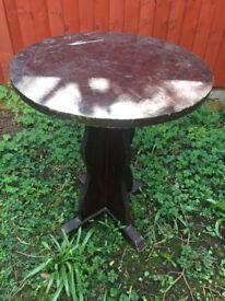 Two oak tables