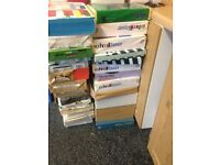 HUGE LOT OF 20 REAMS MIXED COLOURED PAPER AND CARD- ALL BRAND NEW £30