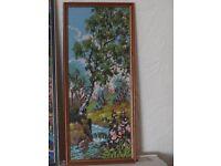 Handwoven framed Tapestry