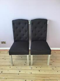 Willis And Gambier Grey Dining Chairs X4