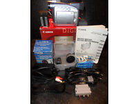 CANON DIGITAL MV700i VIDEO CAMCORDER+WIDE ANGLE LENS+OTHER EXTRAS