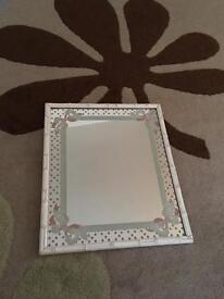 Lovely vintage mirror by braddell enterprise hand printed