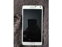 Samsung note 4 white used and unlocked