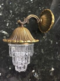 Antique Light Brass Mounting with Lead Glass Crystal