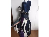 Browning golf bag and clubs