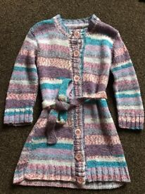 Girls hand knitted cardigan aged 4-5yrs