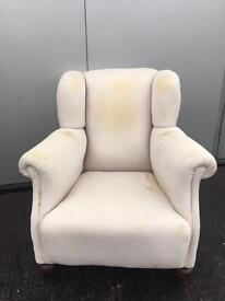 Vintage Wingback Armchair - Upholstery Project