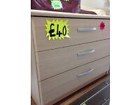 Beech drawers 'NEW'